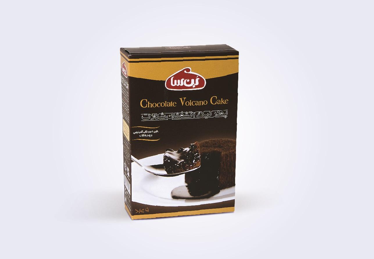 جعبه پودر کیک آتشفشان شکلات بن سا