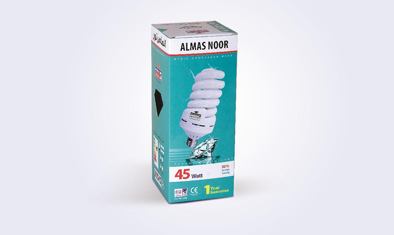 جعبه لامپ کم مصرف الماس نور