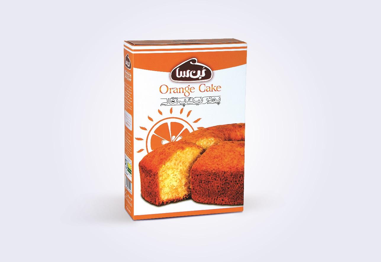 جعبه پودر کیک پرتقالی بن سا