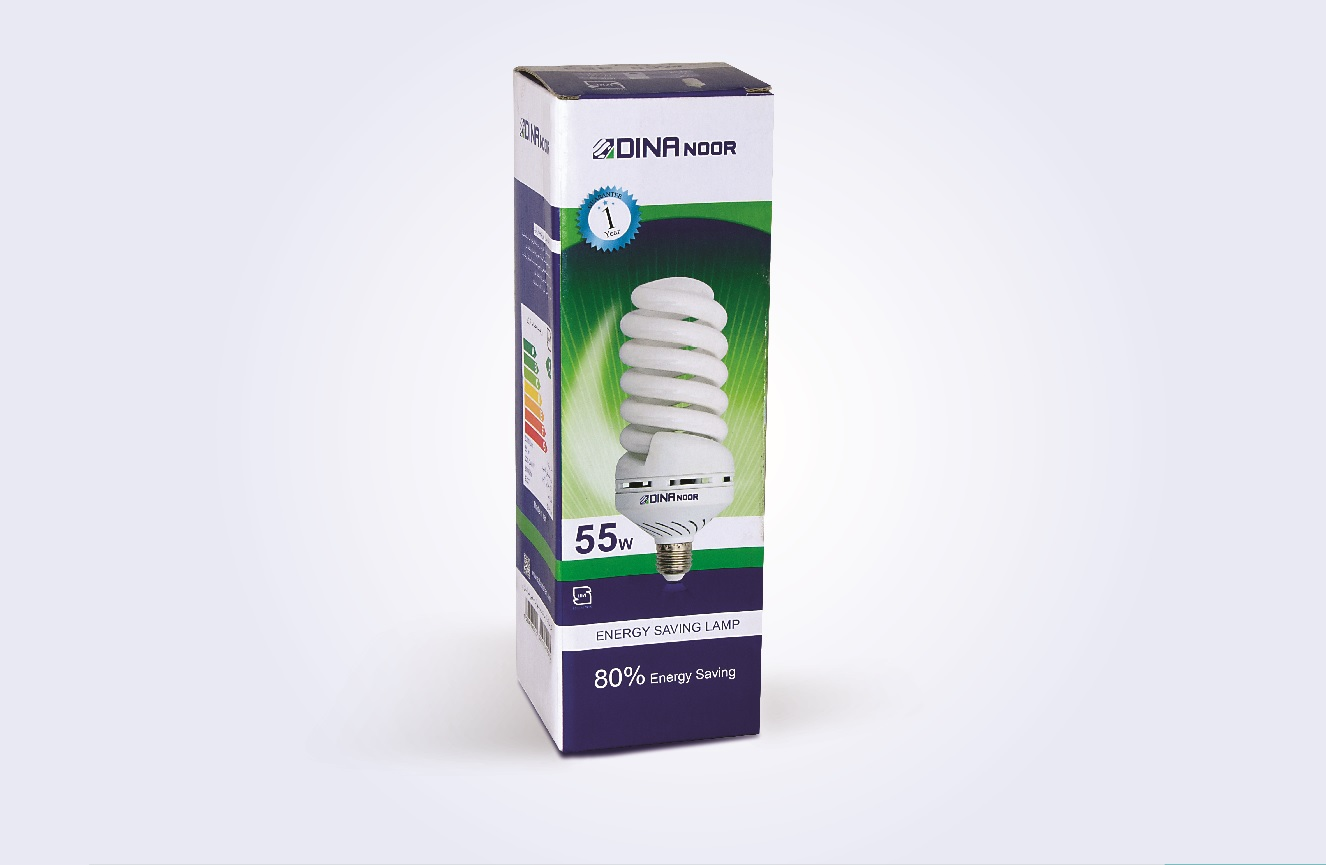 جعبه لامپ کم مصرف 55 وات دینا نور