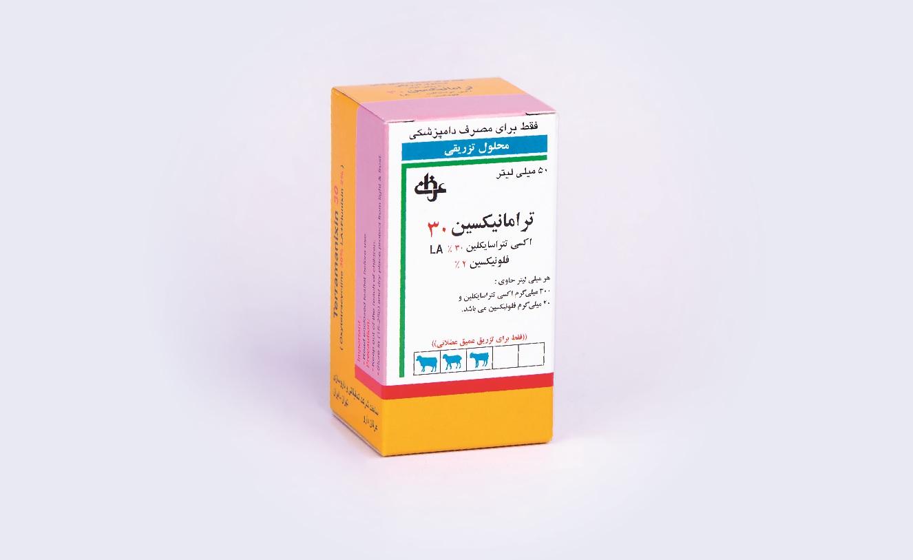 جعبه محلول تزریقی ترامانیکسین دامپزشکی عرفان دارو