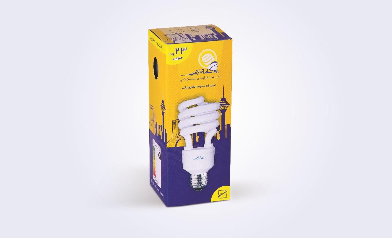 جعبه لامپ کم مصرف 23 وات سامان لامپ