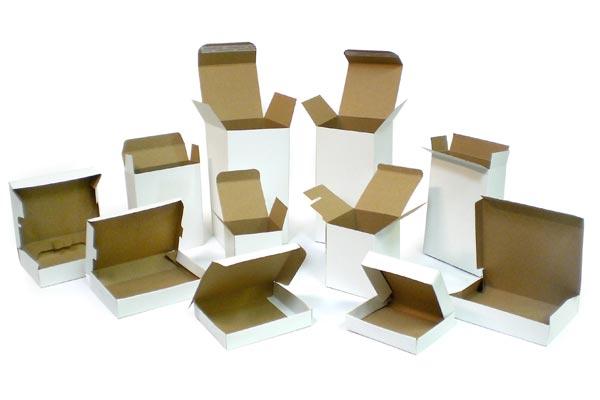 انواع جعبه های کارتنی رویه سفید یا تاپ وایت