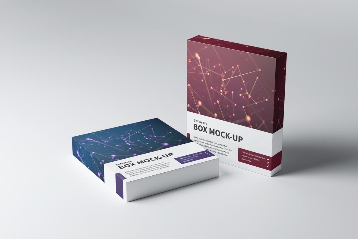 جعبه مقوایی با چاپ چهار رنگ برای نرم افزار