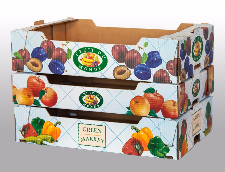 جعبه کارتنی میوه با چاپ رنگی لمینیتی