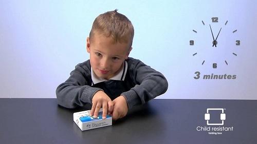 قفل کودک در بسته بندی های دارو